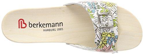 Berkemann Hamburg, Mules Femme Mehrfarbig (Weiß/Gelb Blüten)