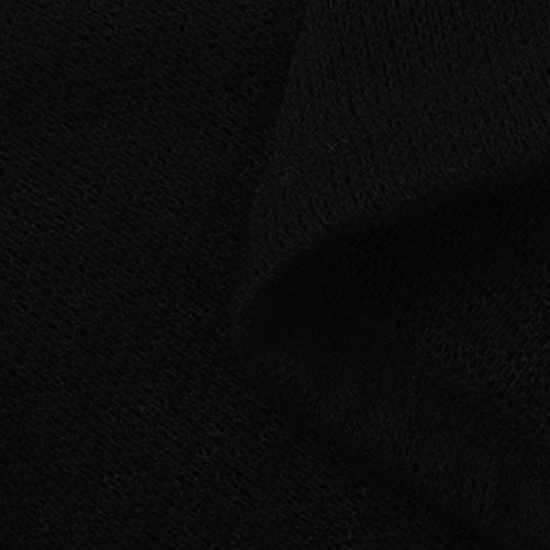 Manadlian Femmes Chandail Chemise Mode Manches Longues Col V Blouse Tops Noir