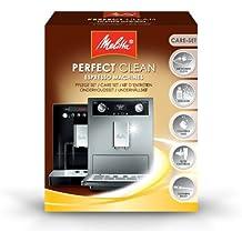 Melitta Kit d'Entretien, Pour Machines à Café Automatiques, 1 Détartrant, 4 Pastilles de Nettoyages, 1 Cartouche Filtrante, 1 Tissu Microfibre, 1 Brosse