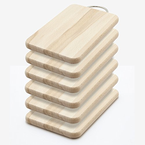 6 massive Frühstücksbrettchen Buche Holz Schneidebrett Schneidbrett Set