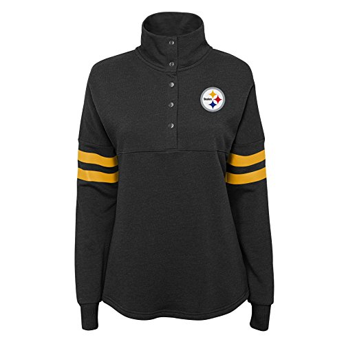 NFL by Outerstuff NFL Pittsburgh Steelers Junior Classic Throw Varsity 1/4 Snap Pullover, Schwarz, Größe XL (15-17) Varsity Snap