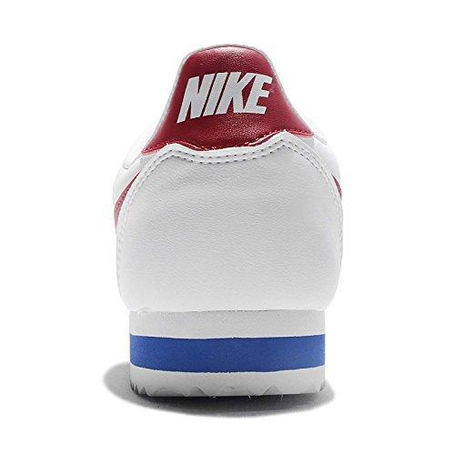 Nike Wmns Classic Cortez Leather, Scarpe da Ginnastica Donna White/Varsity Red