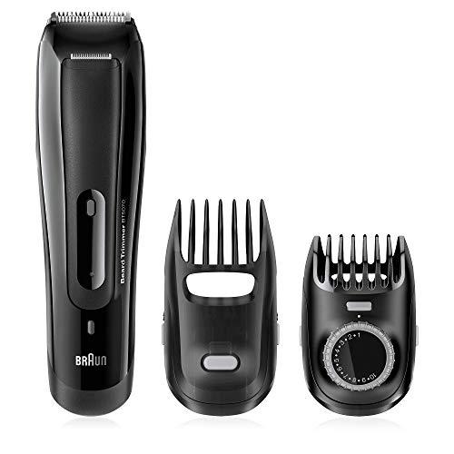 Braun BT 5070 Recortadora Barba, Corta Barbas Hombre con Ajuste Fino Cada 0.5 mm, Precisión para un Estilo Deseado, Negro
