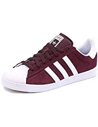 the best attitude 60f78 f562b Adidas Superstar Vulc Adv Maroon - Sneakers Brown Suede