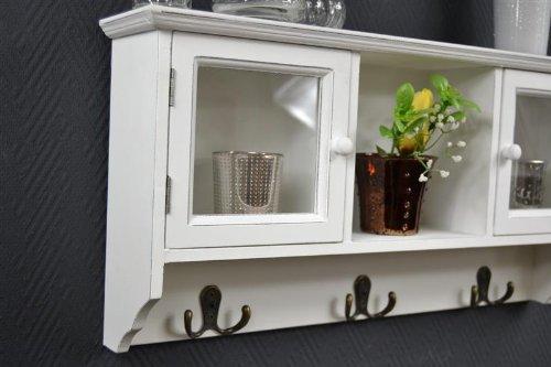 livitat wandschrank schrank vitrine h ngeschrank regal wandregal glast ren sp62. Black Bedroom Furniture Sets. Home Design Ideas