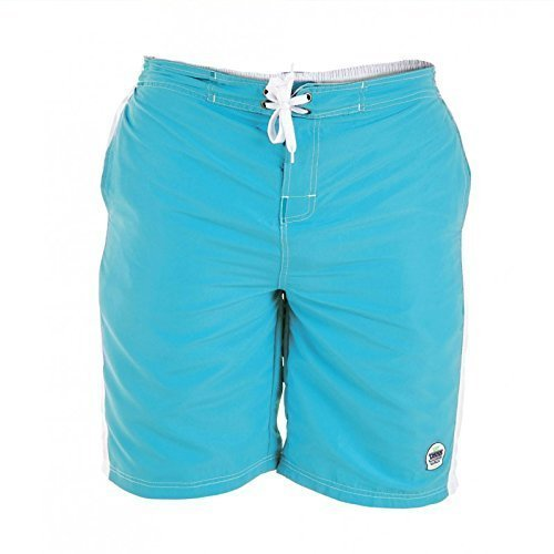 Duke D555 Grand Haut King Size Hommes Natation Trunks Shorts De Surf Bleu Clair