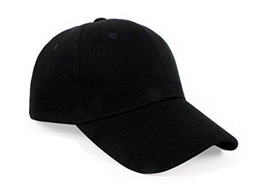 Westeng Baseball Kappe Unisex verstellbare Sonnenschutzkappe in reiner Farbe,Schwarz