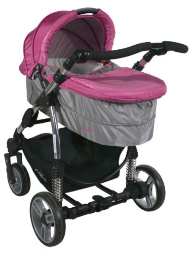 2in1 Travel Set ARTI Comfort B503 2w1 Pink/Gray Babypram and Pushchair/ Baby Stroller   3
