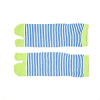 FHCGWZ 5pcs/set Unisex Men Women Socks Kimono Flip Flop Sandal Split Toe Cute Striped Couples Short Sock
