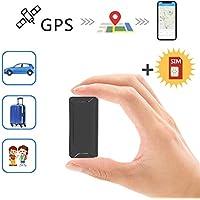 Mini Localizador GPS, Toptellite Real Antirrobo GPS Localizador para Vehículos/niños con Seguimiento de Actividad Fuerte Imán Recargable GPS Tracker con Aplicación Gratuita para Android iOS