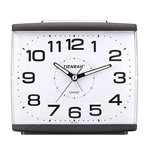 Ayybboo Reloj Despertador Analógico, Despertador Silencio con Luz Sin Tictac Reloj de Mesa...