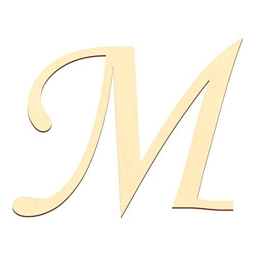 Bütic GmbH Sperrholz Buchstaben - MT5-20 - Wunschtext/Schriftzug mit Größenauswahl - Pappel 3mm, Größe:10 cm, Buchstaben:großes M