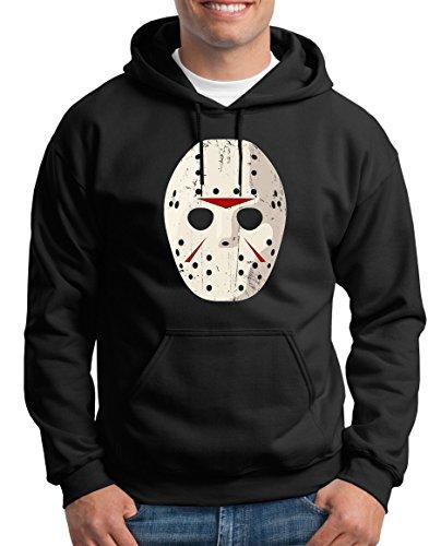 se TLM Jason Mask Kapuzenpullover Herren XXXL Schwarz (Jason Halloween-musik)