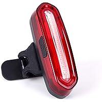 dbef35b32 SLCSL Faro Trasero para Bicicleta – Ultra Brillante & USB Recargable luz  Trasera LED Seguridad Advertencia