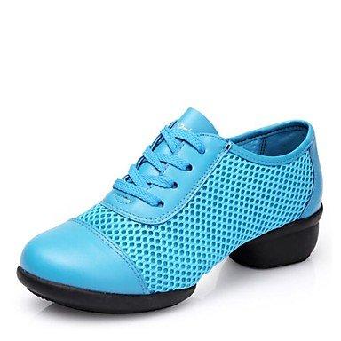 Wuyulunbi@ Donnes Dance Sneakers Tulle Split Sole Sneaker Outdoor tacco basso Blu Rosso Nero fucsia US9 / EU40 / UK7 / CN41