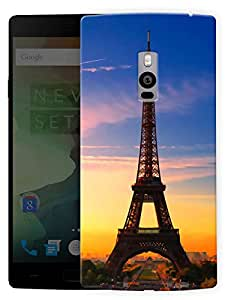 "Humor Gang Eiffel Tower Beautiful Scenery - Paris Printed Designer Mobile Back Cover For ""OnePlus Two"" By Humor Gang (3D, Matte Finish, Premium Quality, Protective Snap On Slim Hard Phone Case, Multi Color)"