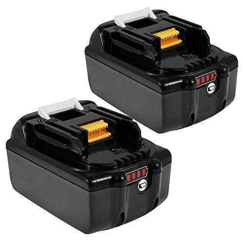 6fed353a52e4 Powayup 2x BL1860B 18V 5,5 Ah batteria al litio per batterie Makita 18V  BL1860B