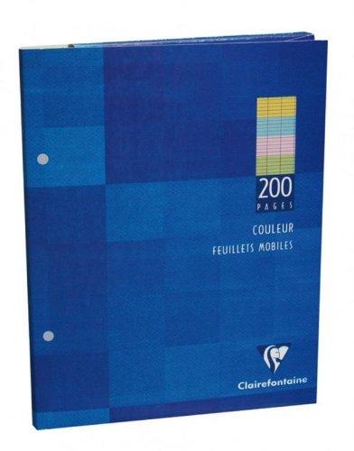Clairefontaine-1-Etui-de-200-Feuilles-mobiles-4-couleurs-perfores--grand-carreaux-format-17x22cm