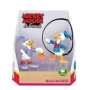 Bullyland 15084 - Juego de Figuras de Mickey Mouse, diseño de Donald y Daisy, para niños, niños y niñas, para Jugar y coleccionar, Multicolor