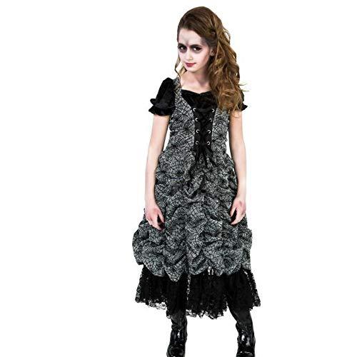 LivingFictions Spider Coffin Princess Kinder Mädchen Halloween Fasching Karneval Kostüm (110-116)