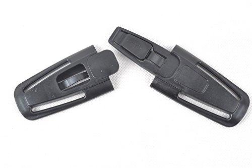 yeah67886coche hebilla cierre correa cinturón arnés pecho bebé seguridad asiento Clip (negro)