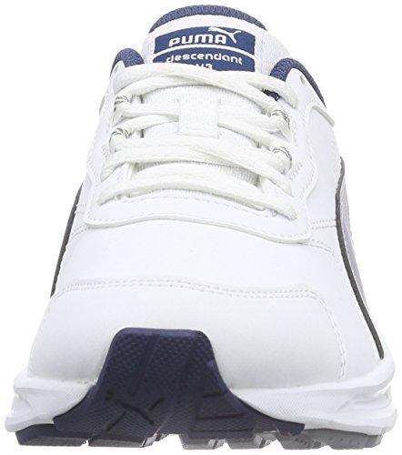 Puma Descendant v3 SL, Unisex-Erwachsene Laufschuhe Weiß (white-poseidon-quarry 01)