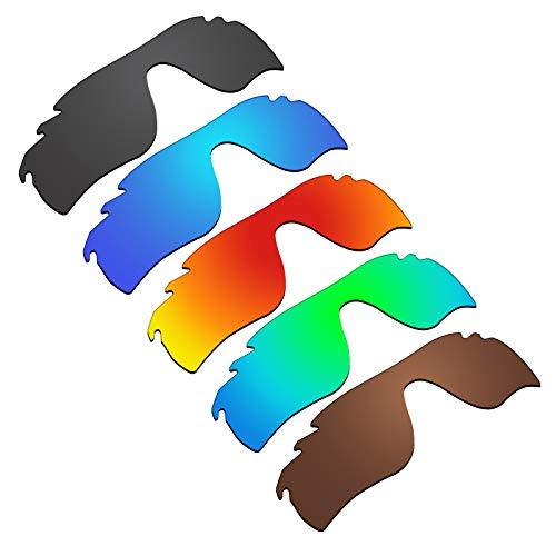 Glintbay 5 Stück Ersatzgläser für Oakley RadarLock Path Vented Pack -BBRGB