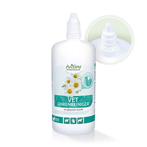 AniForte VET Kamillen-Ohrreiniger 250ml - Ohren-Reiniger - Pflegt und Beruhigt - Schnelle Wirkung für Hund und Katze - Sanfte Lösung ohne Alkohol - Naturprodukt für Tiere