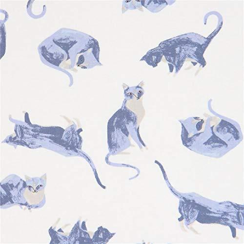 Timeless Treasures Tissu en Coton écru avec des Chats