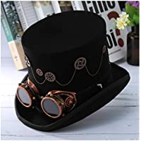 MMD-women's hat Moda Lana Steampunk Otoño Invierno Alto Grado de Engranaje de la Roca Gorro de Fiesta mágica de Vestuario Banda del Sombrero de los vidrios del Sombrero de Copa Hombres Mujeres Suave