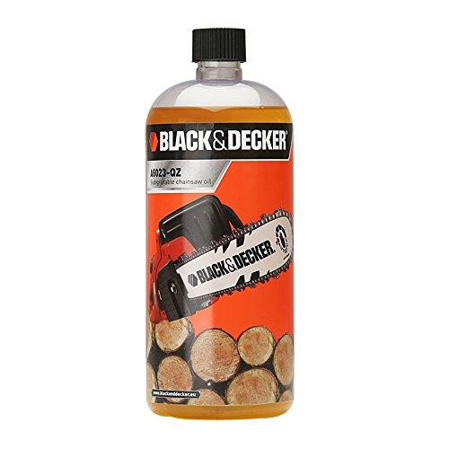 Black+Decker - Aceite ecológico biodegradable de 1L con tubo de llenado para todos los modelos de motosierras