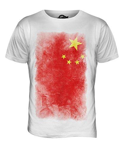 CandyMix Volksrepublik China Verblichen Flagge Herren T Shirt Weiß
