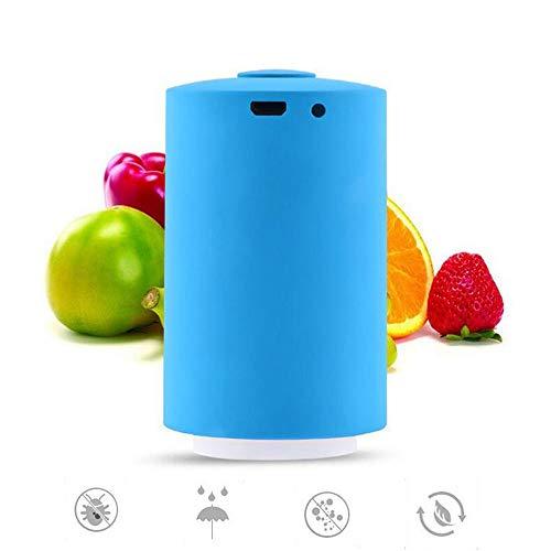 ACLBB Automatische Vakuum-Maschine Mit 5 Lebensmittel-Aufbewahrungsbeutel, One-Touch-Vakuum-Dichtungssystem, USB Aufladen, Home Kitchen Blue,SO Gesehen Wie Im Fernsehen