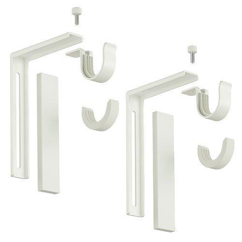 Ikea 2 er Set Betydlig Wand- oder Deckenhalterung Duschvorhangstange mit Halterung (weiß, 2 Stück)