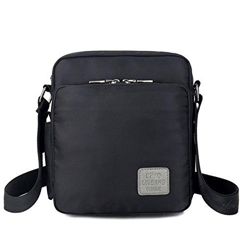 Outreo Borsa Tracolla Vintage Messenger Bag Borse Spalla Borsello Nylon Sacchetto  Tablet Donna Borsetta Uomo Viaggio ... acd96c619ff