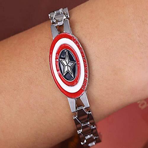 Inveroo Avengers Iron Man Armband Superheld Zinklegierung Kette Silber Blau Rot Armbänder & Bangles Survival Armband