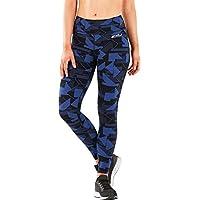 2XU - Mallas largas de compresión para Mujer, diseño de Talle Medio, Color Azul