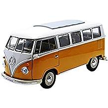 Welly - Volkswagen T1 Microbus, escala 1/18, color naranja (12531y)
