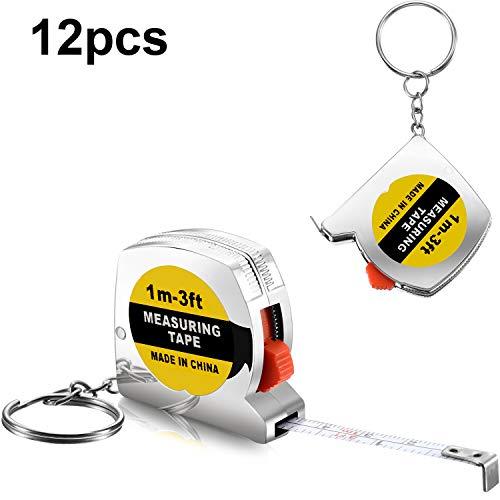 Maßband Schlüsselanhänger Funktionale Mini Maßband mit Stabile Rutschen Sperren Geburtstag Party Gefälligkeiten Goody Tasche Füllstoffe Preis ()