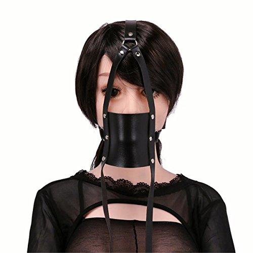 Kostüm Männliche Dienstmädchen (LIUZHI Fun Leder schwarz, um die Maske / Mesh / Geschmack Mund / Mund Schlegel zu)