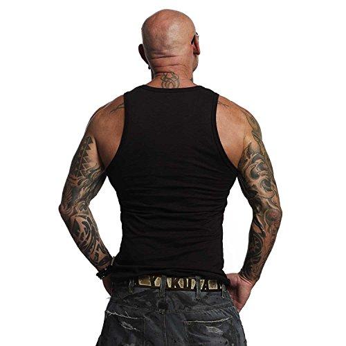 Yakuza Original Herren Destroy Tank Top T-Shirt Schwarz