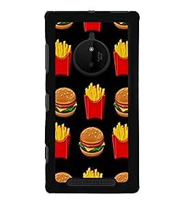 Burger and Fries 2D Hard Polycarbonate Designer Back Case Cover for Nokia Lumia 830 :: Nokia Lumia 830 RM-984