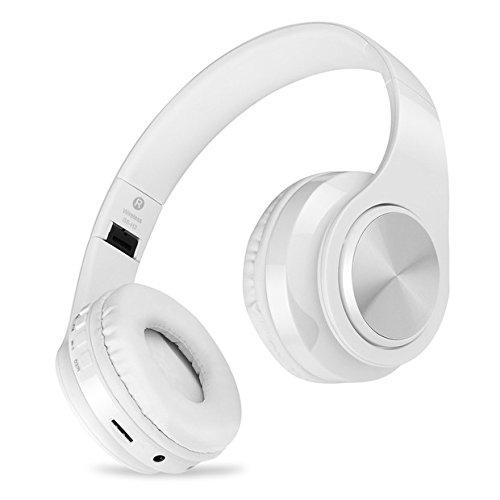 Bluetooth Kopfhörer Kabellose mit Mikrofon, MeihuaTu Rauschunterdrückung Faltbare Über Ohr Kopfhörer Kompatibel mit Smartphones, Tablets, PC, iPhones, iPads, Laptops