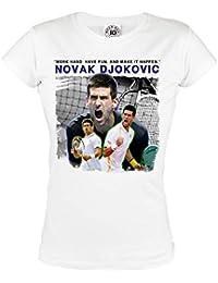 Rule Out MUJER CAMISETA TENIS CAMPEONES NOVAK djokovic. Tenis PRACTICANTE  Entrenamiento sportswear. Informal 66ef8c21b8