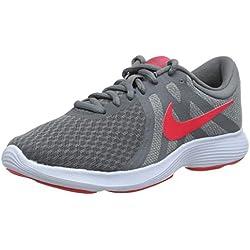 Nike WMNS Revolution 4 EU, Chaussures de Running Femme, Gris (Cool Grey/Red Orbit/Pure Platinum/Half Blue 018), 39 EU