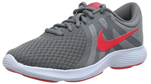 Nike Damen Revolution 4 EU Laufschuhe, Grau (Cool Grey/Red Orbit/Pure Platinum/Half Blue 018), 38