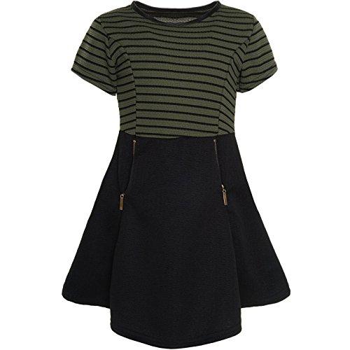 Mädchen Kinder Freizeit Abend Kleid Peticoat Festkleid Kurz Arm Kostüm 21065,...