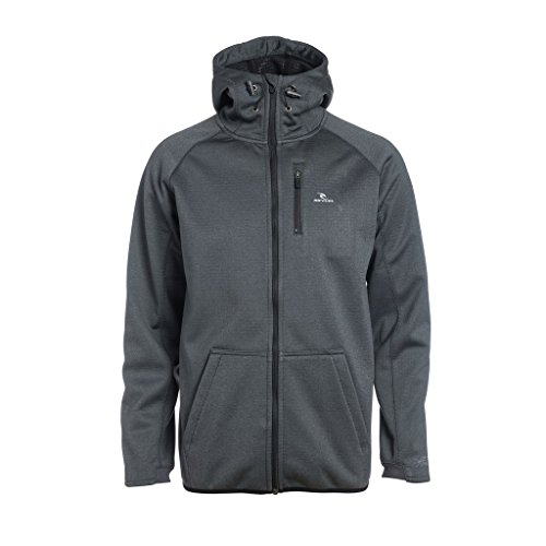 Rip Curl Bonded Zt Hooded Felpa, Charcoal Marle, S