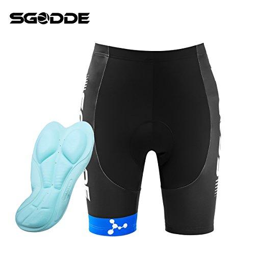 SGODDE Radlerhose, 3D Gel-Polster Radhose, antibakteriell Fahrradhose mit 3D Coolmax Sitzpolster(XXXL)