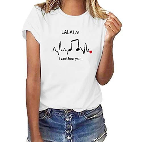 kolila Personalisiertes Drucken T Shirt Oberteile Casual Damen Sommer Basic Kurzarm Tops Bluse Pullover S-XXXL -